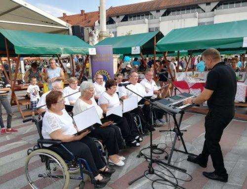 Nastop komornega pevskega zbora DPPP na prireditvi Občina na prostem v sklopu Občinskega praznika Ljutomer