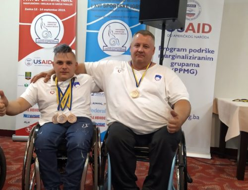 Naši člani osvajali bron na Mednarodnem odprtem prvenstvu in hkrati 16. športnih igrah paraplegikov v Bosni in Hercegovini