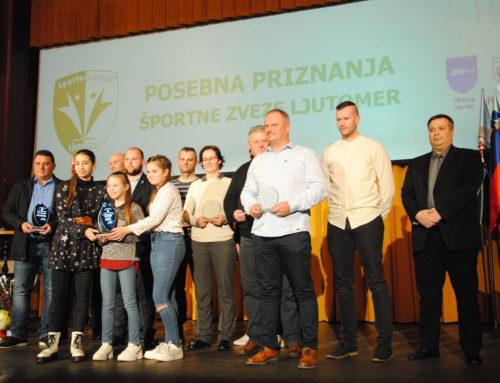 Društvo paraplegikov Prekmurja in Prlekije prejelo posebno priznanje za 40 let delovanja ob 50. letnici izbora športnikov in ekip v Športni zvezi Ljutomer