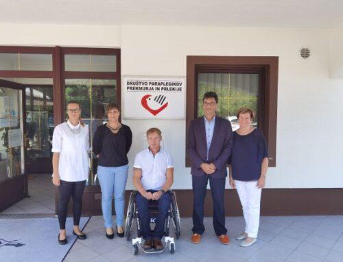 Varuh človekovih pravic obiskal Društvo paraplegikov Prekmurja in Prlekije
