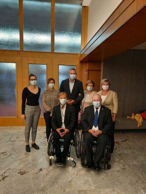 Naši predstavniki društva in Zavoda osebne asistence Pomurja so se udeležili seje Državnega zbora